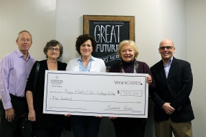 Presenting big check to Boys and Girls Club of Souhegan Valley