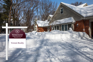 house for sale in winter