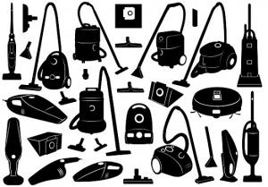 black and white vacuum cleaners