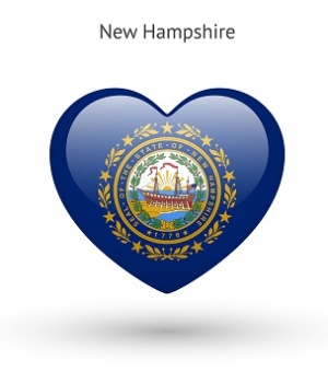 New Hampshire symbol in heart shape