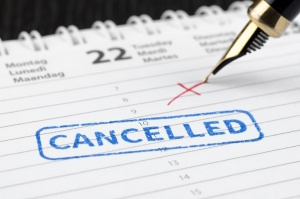 cancellation on calendar
