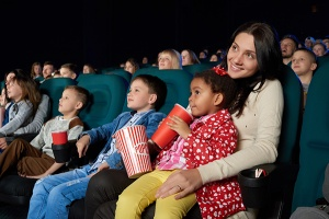 Family at the movies